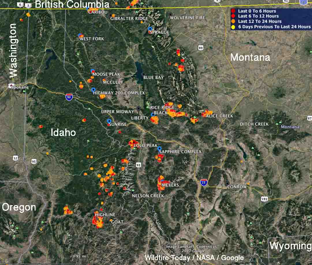 Current Fire Map Montana.2018 Morel Sightings Map And Burn Maps Fungiflora